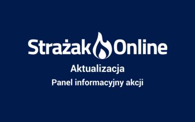 Panel informacyjny akcji